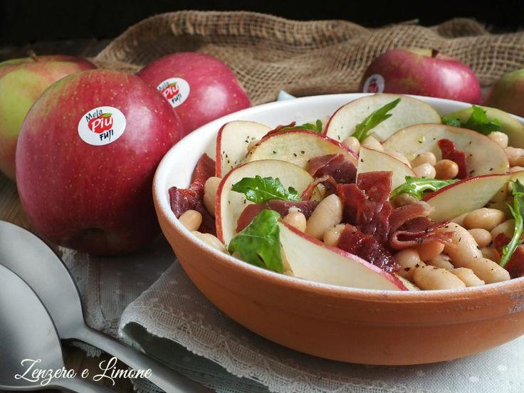 Insalata+con+cannellini,+mela+e+prosciutto+crudo