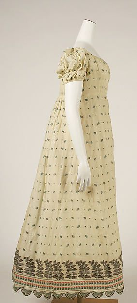 Dress (image 2) | French | 1806-1810 | cotton | Metropolitan Museum of Art | Accession #: C.I.64.36