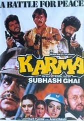Karma (1986) Anil Kapoor, Jackie Shroff, Naseeruddin Shah, Dilip Kumar, Nutan, Poonam Dhillon, Sri Devi  Uploaded here at 4:11 a.m. 12 Nov '12 - a note to self