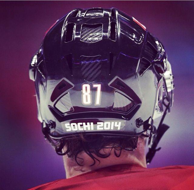 87. Sidney Crosby. Sochi 2014 Olympics. Team Canada men's hockey.