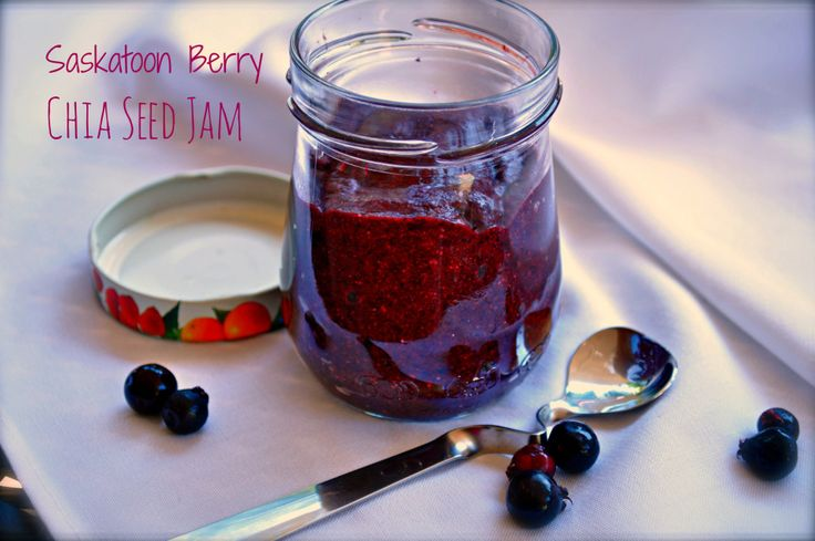 Saskatoon Berry Chia Seed jam. Literally making this right now; I'd been looking for ways to use Chia seeds anyways.