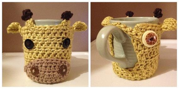 Crochet Mug Cozy by AmyDollfaceCrochet on Etsy,