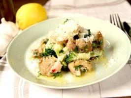 Quick chicken with broccoli  Recipe in Swedish