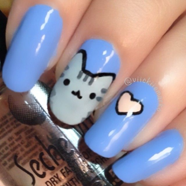 17 Best Ideas About Cat Nail Art On Pinterest