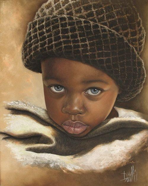 Niño de África 53 Óleo sobre Lienzo 2011 40 x 50 cm