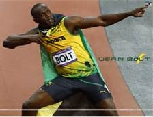 """Lightning Bolt,He is the first man to hold both the 100 and 200 metres. he also set the world record in the 4×100 metres relay. He is the reigning Olympic champion in these three events, the first man to win six Olympic gold medals in sprinting, and a five-time World champion. He was the first to achieve a """"double double"""" by winning 100 m and 200 m titles at consecutive Olympics (2008 and 2012),topped this through the first """"double triple"""" (including 4×100m relays)."""