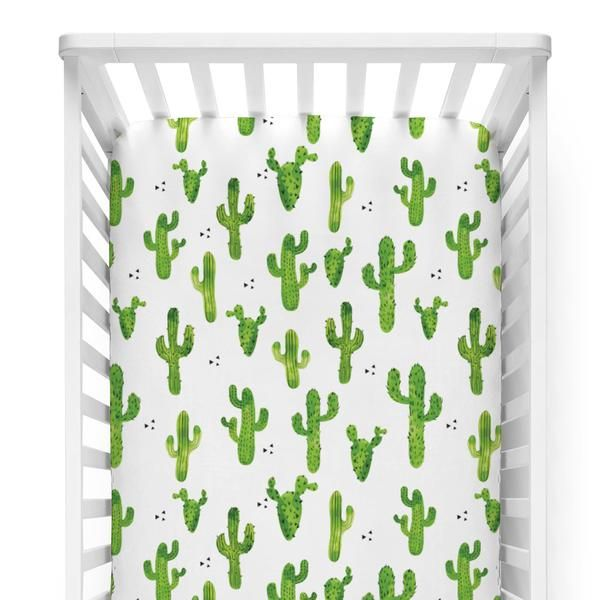 This cactus crib sheet is the perfect touch for any nursery! We <3 this print.