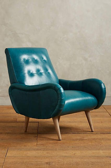 Leather Losange Armchair - anthropologie.com