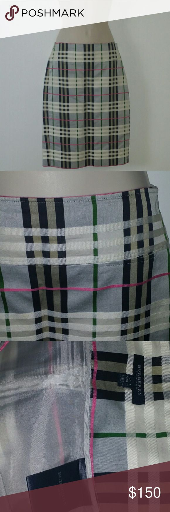 Auth. Burberry skirt size 4 stunning auth. Burberry skirt pencil line size 4 bought from Bloomingdales Burberry Skirts A-Line or Full