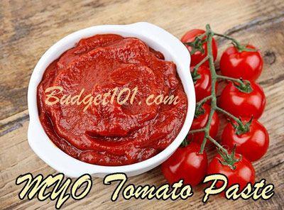 Homemade Tomato Paste Recipe - ripe tomatoes, salt, olive oil - pot, food mill, pot, oven 200