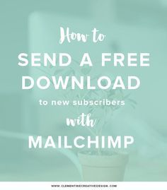 How to Send a Free Download Automatically in Mailchimp by Clementine Creative #adelineadvice #womeninbusiness