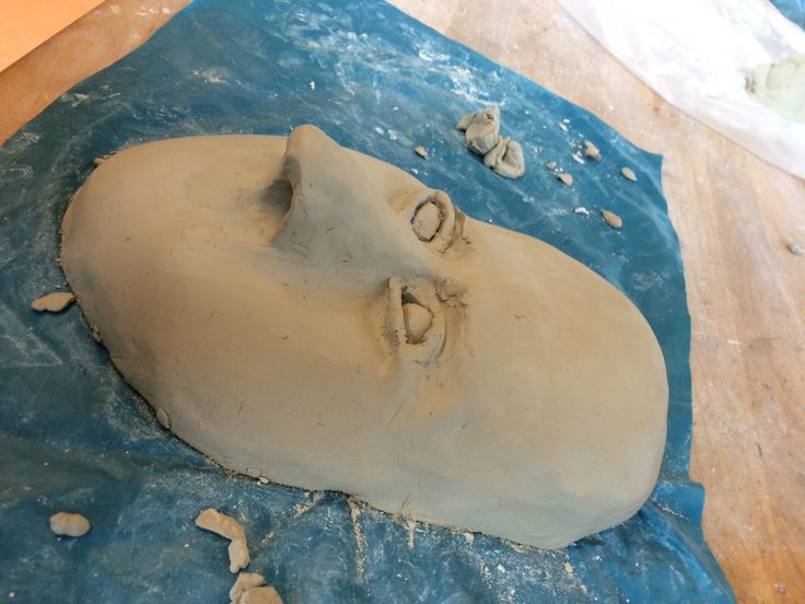 Foto van m'n masker met ogen van de zijkant.