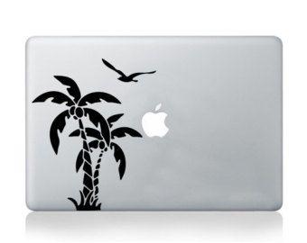 MacBook decal palma albero vinile adesivo spiaggia tramonto decal trasferimento grafico pelle notebook computer portatile decal Asus HP Toshiba Dell