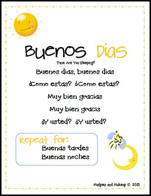Spanish Hello Song
