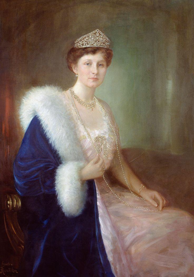 """Gustav Rienäcker: Porträt von """"Sissy""""Viktoria Luise von Preußen  (1913)"""