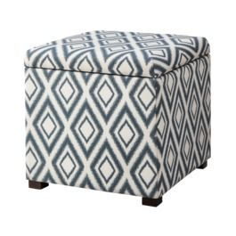 Threshold Rectangular Single Storage Ottoman Blue Diamond Ikat 70 Bedroomfurniturebysongmics Blue Storage Ottoman Storage Ottoman Tufted Storage Ottoman