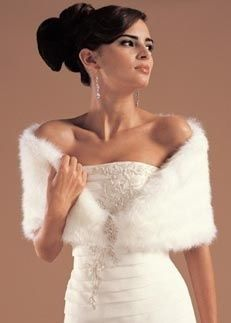not sure bout this but a fur stole for winter weddings would keep u warm..at least a bit!