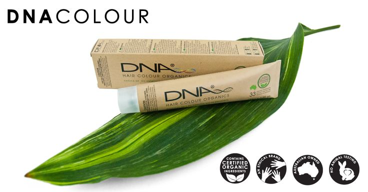 DNA Organics. Australian Owned Organic Based Hair Colour and Hair Care. No Animal Testing.