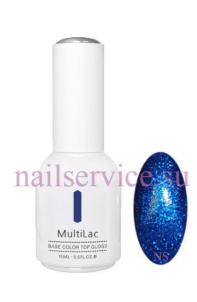 Гель-лаковое покрытие MultiLac (с блестками, Синий восторг, Blue Delight), 15 мл. RuNail. Цена 380 руб.