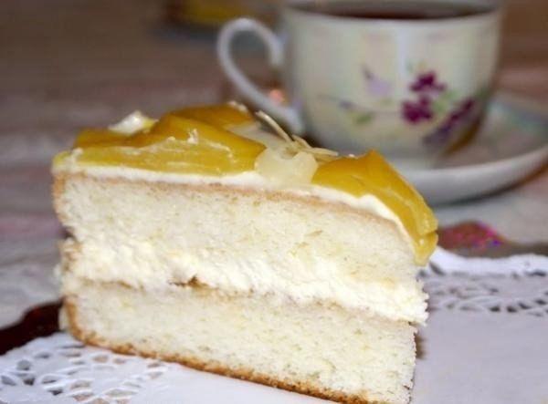 Торт Миндально-персиковый блюз с ликером Амаретто | Рецепты для Вас!