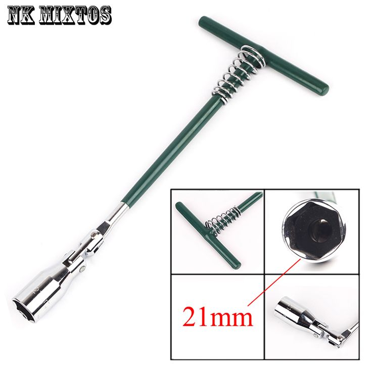 Home Use Save effort 1Pc T-Handle Universal Joint Spark Plug Socket Wrench Tool 21mm Spark Plugs Remover Installer Socket Wrench