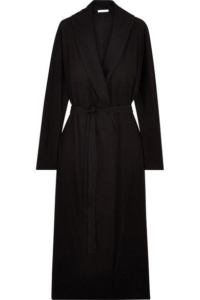 Black Pima cotton-jersey Slips on 100% Pima cotton-jersey Machine wash