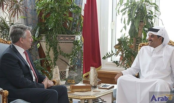 HH the Emir Meets CEO of Royal Dutch Shell