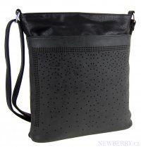 Elegantní malá dámská crossbody kabelka 5227 černá