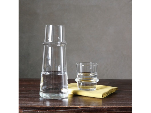 Ramos Glassware  //  Made of strong, light-weight borosilicate glass. The Ramos Stackable Glasses may be purchased in a set of 2 or in a bundle that includes a glass and a beautiful sleek carafe that complements the glasses perfectly. Dishwasher safe.