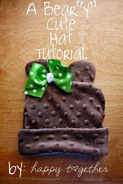 This is adorable!: Hats Patterns, Bears Hats, Hats Tutorials, Cute Hats, Minki Bears, Baby Hats, Baby Bears, Bears I, Bears Baby
