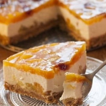 Cheesecake aux abricots