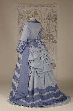 janet arnold promenade dress c1873-5