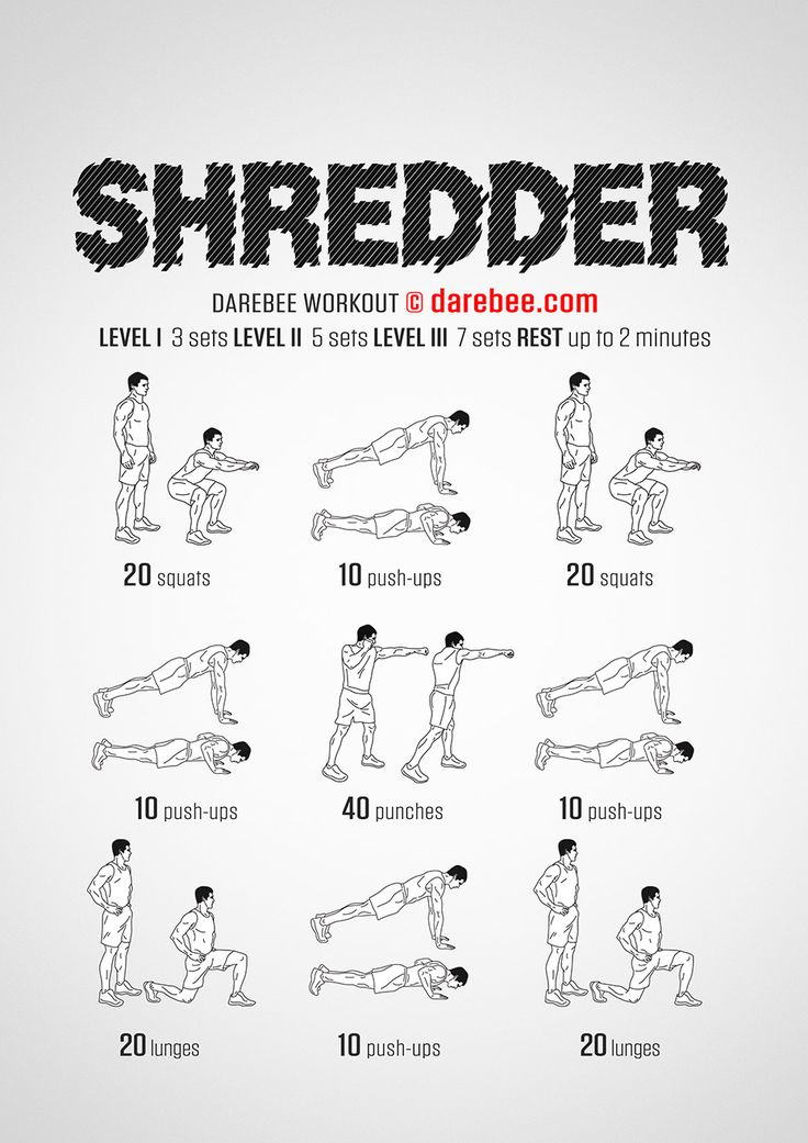 Shredder is a total body strength workout by Darebee.