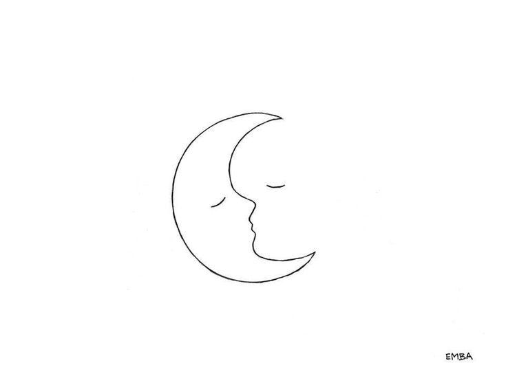 drawings moon drawing minimalistic minimalist tattoo aesthetic minimal dessin desenho line easy desenhos request crescent kiss linha outline upon tatuaggi