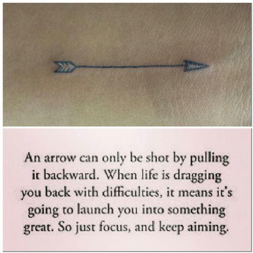 Arrow tattoo.