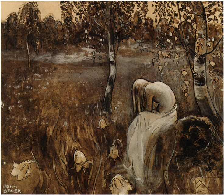 "John Bauer, ""At Dawn"""