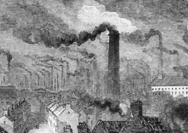 Manchester in the Industrial Revolution, circa 1865. Picture: Getty