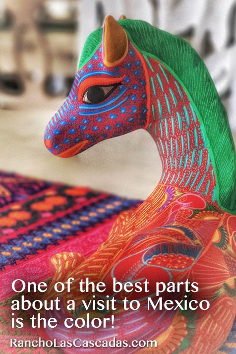 mexican color, mexican folk art, oaxacan art, colorful pony, painted pony, sculpted horse, horse sculpture,