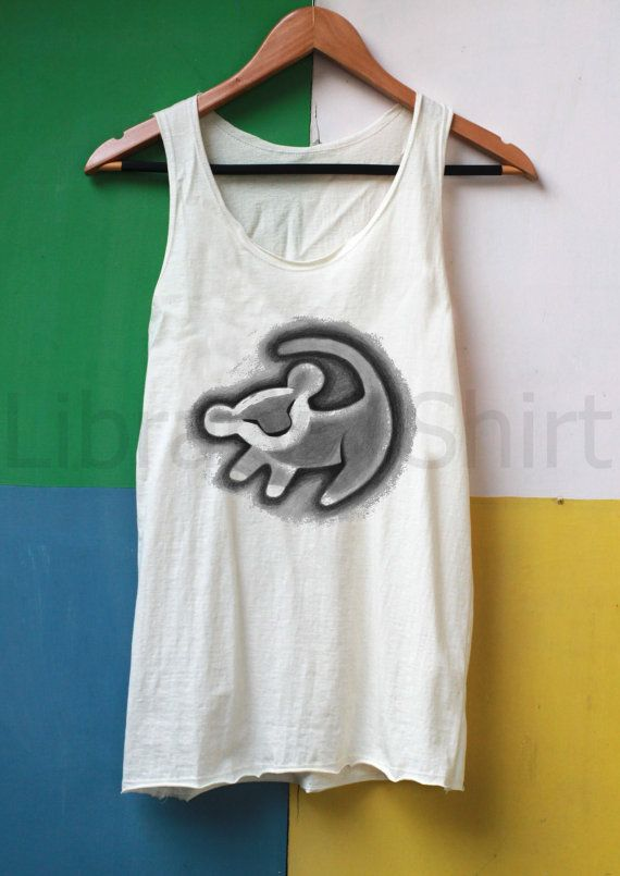 Lion Shirt Simba Shirt Tank Top TShirt Top by LibraryOfShirt