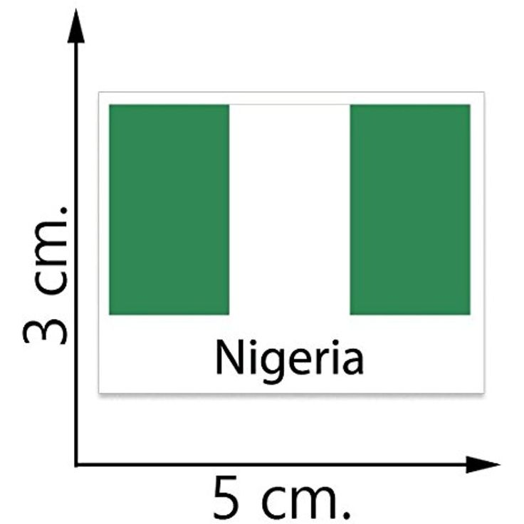 Nigeria Flag Temporary Tattoos Sticker Body Tattoo >>> Check out this great product. (This is an affiliate link and I receive a commission for the sales)