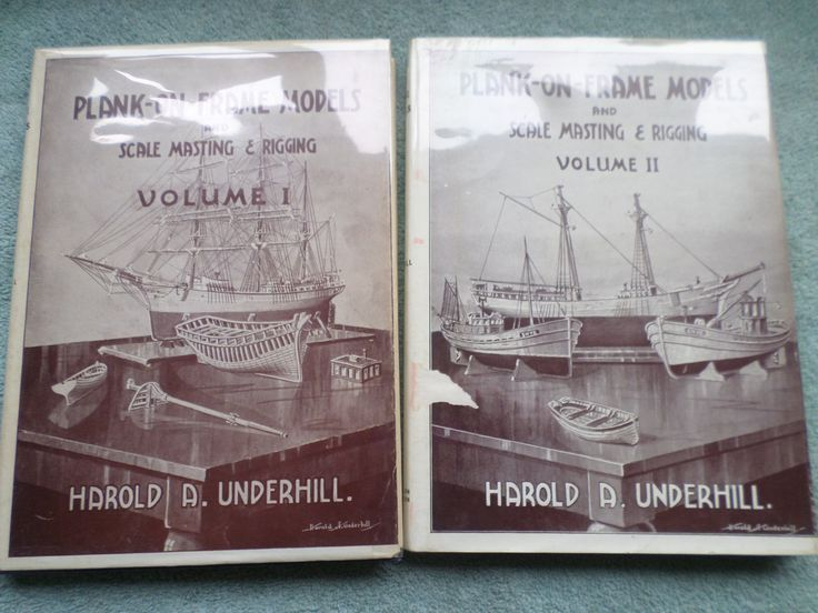 Plank On Frame Models Volumes I and II Harold A Underhill Free Post Worldwide by RoseCollectable on Etsy