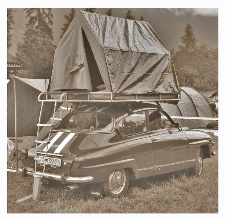 Saab camper. Awesome.