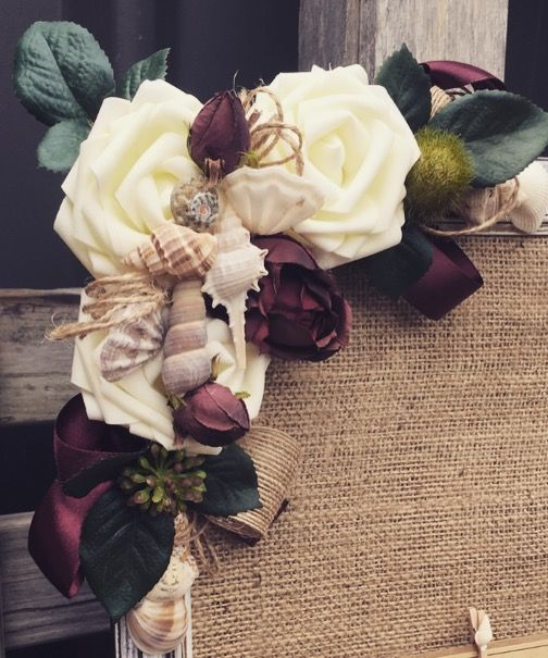 Beach themed RUSTIC TABLE Seating plan