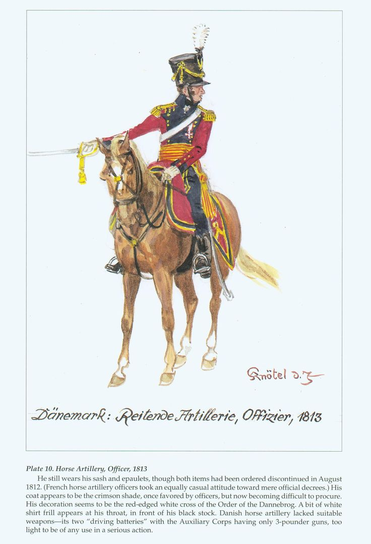 Denmark Horse Artillery Officer 1812