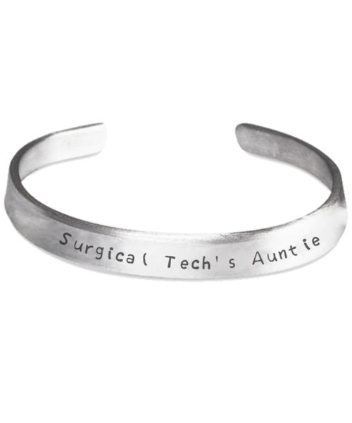 Surgical Tech Family Bracelet   Hand Stamped Surgical Tech's Auntie  #surgicaltech #cst #scrubtech