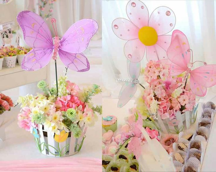 Butterfly Garden Party Centerpieces My Daughters 1st