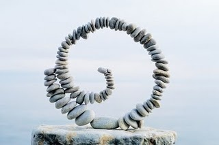 how cool is this pebble sculpture? More