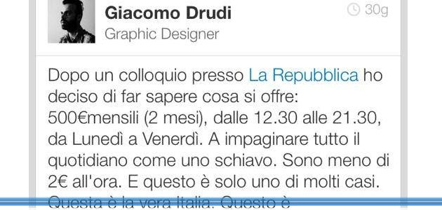 Grafico a La Repubblica per 2 euro l'ora. Possibile?