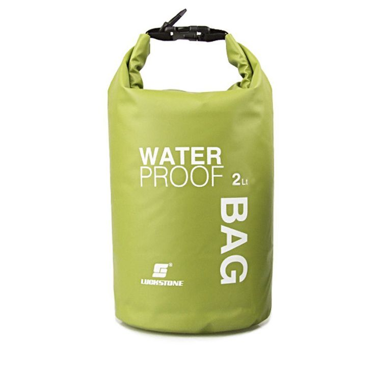 New Sale LUCKSTONE Waterproof Bag Pouch for Camping Kayak Fishing Rafting Canoe-kayak 2L Green
