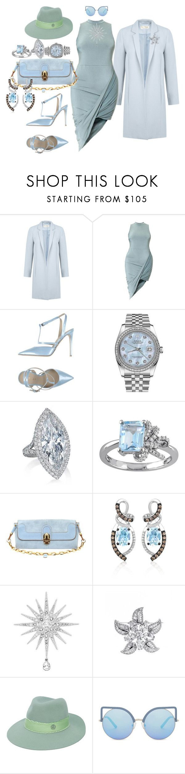 """That Hot Blue Dress - Sexy Big Girls Rock"" by blujay1126 ❤ liked on Polyvore featuring Miss Selfridge, Le Silla, Rolex, Laura Ashley, Chloé, LE VIAN, Swarovski, CZ by Kenneth Jay Lane, Maison Michel and Matthew Williamson"